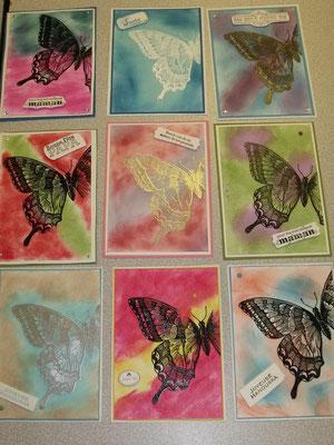 Voici toutes les cartes fabriquées...