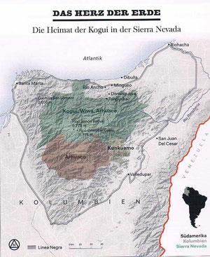 Die Heimat der kogui in der Sierra Nevada