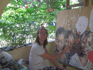 Die belgische Malerin Els Knockaert auf ihre Finca in der Sierra Nevada de Santa Marta