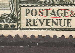 R 6/6 Fine hairline through Postage