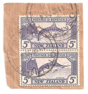 1935, L8a, on parcel piece, Otahuhu cds.