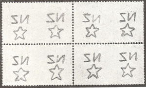 Single watermark ( W7) as found on larger stamps.