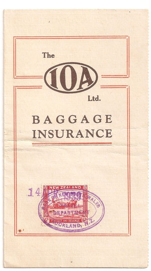 6d on Insurance baggage policy.14/04/1939