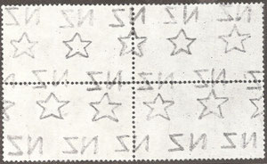 Multiple watermark (W8) as found on larger stamps