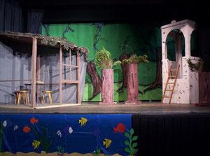 Das Bühnenbild im 1. Akt