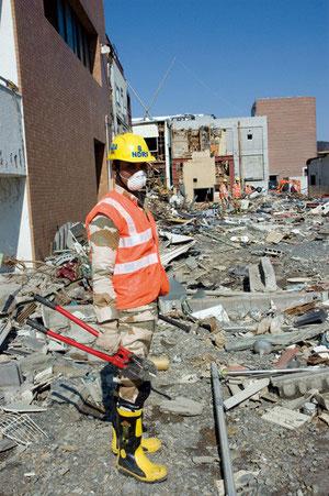 宮城県の女川町にはインドの救援隊がきていた
