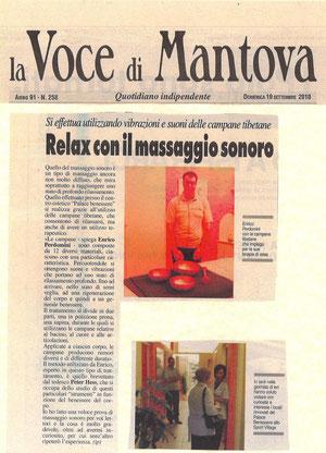 """""""La Voce di Mantova"""" - 19 settembre 2010"""