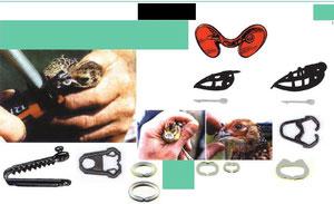 GAFAS ANTI-PICAJES  gafas para gallinas y pollos anti-picajes