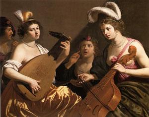 Jan Van BIJLERT, Le Concert (1635-40), Huile sur toile, Collection privée (Source: WGA)