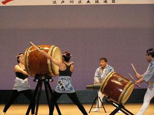 東京都太鼓連盟からは和光太鼓さんの演奏!こちらはお馴染みの曲で魅せていただけました。
