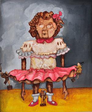 Die drei Heiligen und die Puppe, 2010, 110cm x 90cm, Oil on canvas
