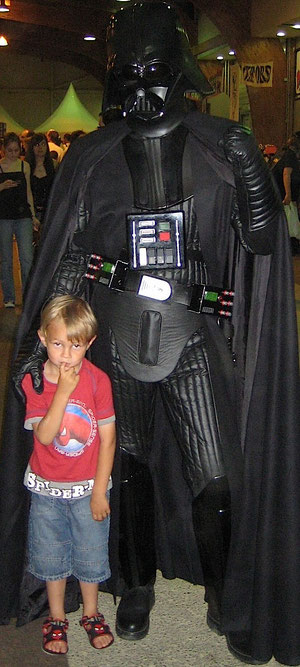 Darth Vader with my son Kirk !