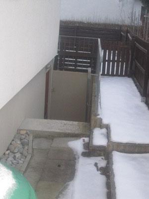 Eingang zum Ausgabezimmer