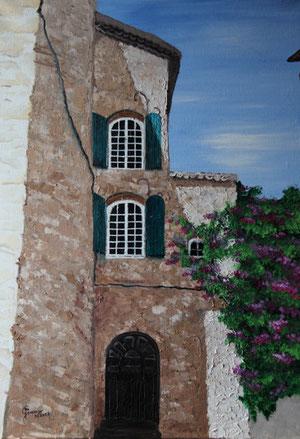© Haus in der Altstadt von Vaison la Romaine, Öl auf Leinwand, 70 x 50cm