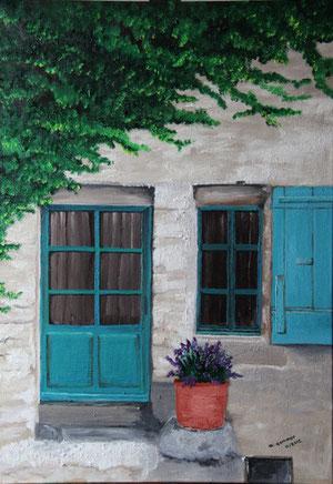 © Hauseingang in der Altstadt von Vaison la Romaine, Öl auf Leinwand,  70 x 50cm