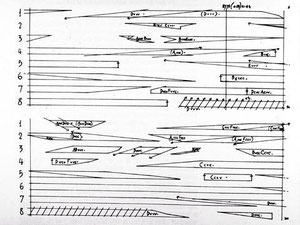ejemplo de escritura musical contemporánea