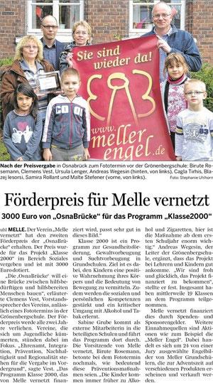 Förderpreis für Melle vernetzt - 01.12.2012