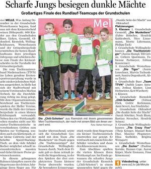 Finale des Tischtennis-Rundlauf-Teamcups - 08.03.2013