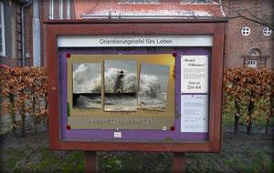 Plakat Schaukasten Kirche Felsenfest