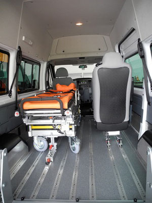 Stretcher in Ford Transit.
