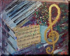 gemalt, Musikbilder, Christel Thoenes