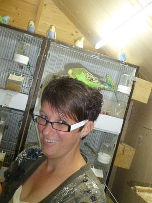 Achmed ist die Krönung, sie fliegt meine Gäste an und baut sich ein Nest in dessen Haare :-)