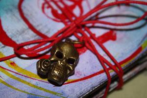 Mini Accordian Art Journal Cover Close Up.