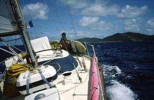 GANDALF brise de mer 31 sous ST Vincent Petites Antilles 1986