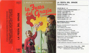 La festa del grazie - Cologgi & Scotti & zulian- mp3 & Spartiti & Basi & copione