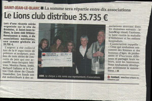 Merci au Lions'Club!