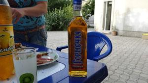 der Wodka muas wek, des homr ues vorgno