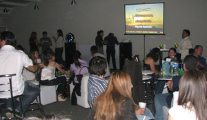 evento karaoke con proyector