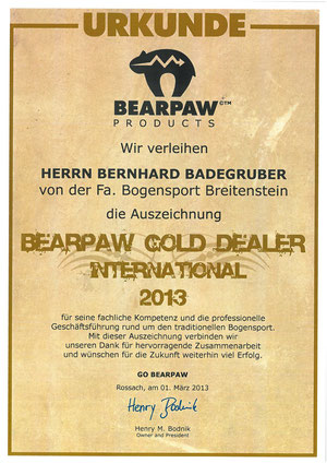 BEARPAW Gold Dealer International 2013