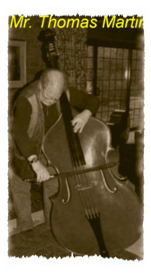 Thomas Martin testing a new double bass
