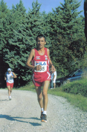 Sulla salita di Sanzola nel Memorial Mario Pantani
