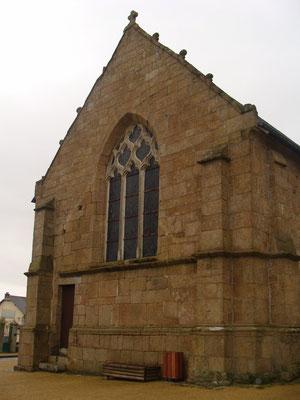 Le chevet de l'église du XVème siècle