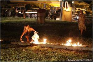 Installation Le feu de l'action, Nuit d'art de pleine lune 2009