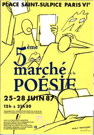 Affiche Marché Poésie 1987