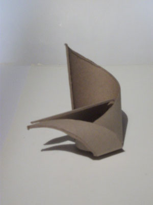 1989 sculpture abstraite en carton N° 6