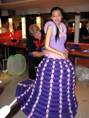 La robe en ballons
