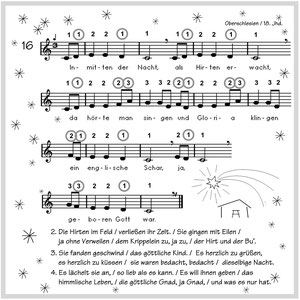 """MundharmMundharmonikanoten für 4-Kanal-Instrumente aus der Weihnachtslieder-Sammlung """"Inmitten der Nacht"""""""