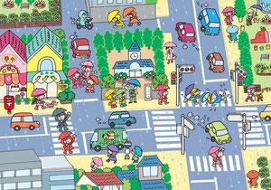 幼稚園配布用交通安全リーフ