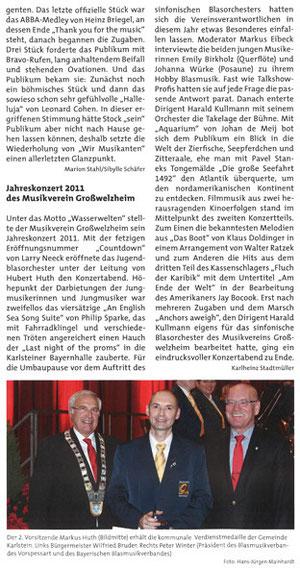 Jahreskonzert 2011, BDB-Nachrichten v. 01.01.2012
