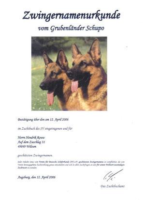 Kennelregistratie Duitsland vanaf 2006