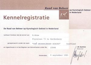 Kennelregistratie Nederland tot 2006