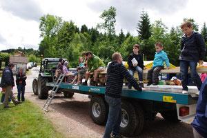une balade découverte en tracteur