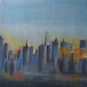 Happy city - acrylique sur toile  - 60 x 60  - 2012