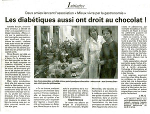 Premier article de journal après le lancement officiel de l'Association...