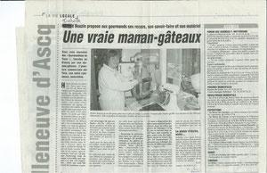 Premier article de l'Association (Lire Isabelle au lieu d'Hélène)