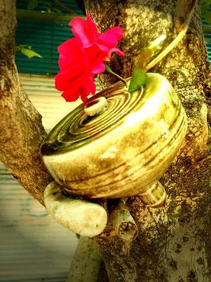 小林夢狂 MukyoKobayashi 花器 あおい夢工房 炎と楽園のアート